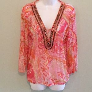 INC Peachy PInk Beachy Tunic Too